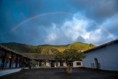 Ecuador-Tailormade-Tours-Hacienda-Zuleta_Exterior-Rainbow